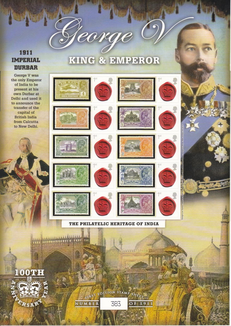 George V,  King and Emporer - Benham Covers
