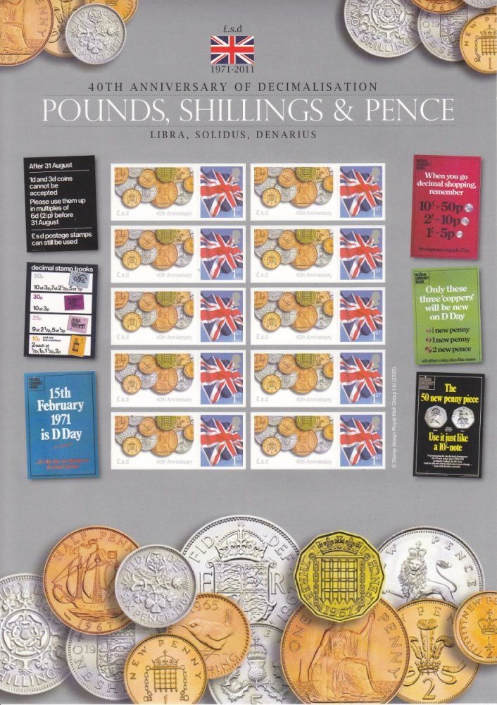 40 Years of Decimal Currency - Westminster